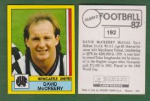 Newcastle United David McCreery Northern Ireland 192
